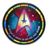 Star Trek Qi Wireless Charger With Illuminated Stained-glass Delta & 8000mAh Backup Battery