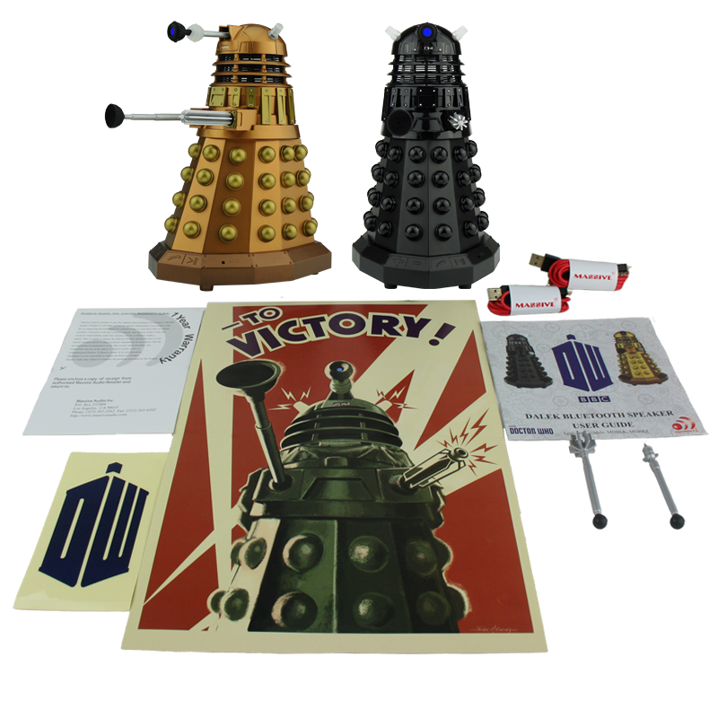 Doctor Who Assault Dalek + Dalek Sec Portable Bluetooth® Speaker Combo  LED's and Sound Effects