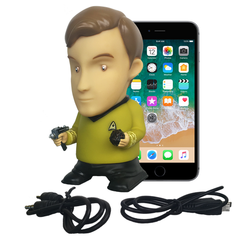 Star Trek: TOS - Captain Kirk Bluetooth® Figure Speaker with Sound Effects - Fametek Collectibles