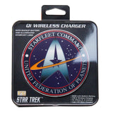 Star Trek Qi Wireless Charger With Illuminated STARFLEET Logo & 8000mAh Backup Battery