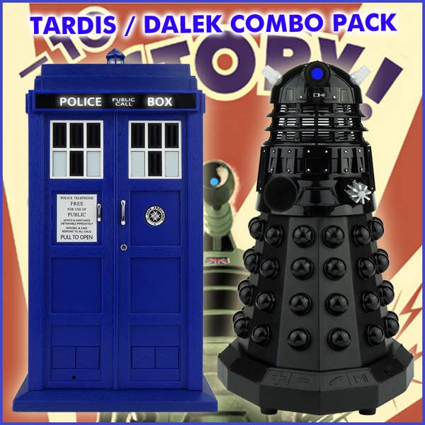 Doctor Who TARDIS + Dalek Sec Portable Bluetooth® Speaker Combo