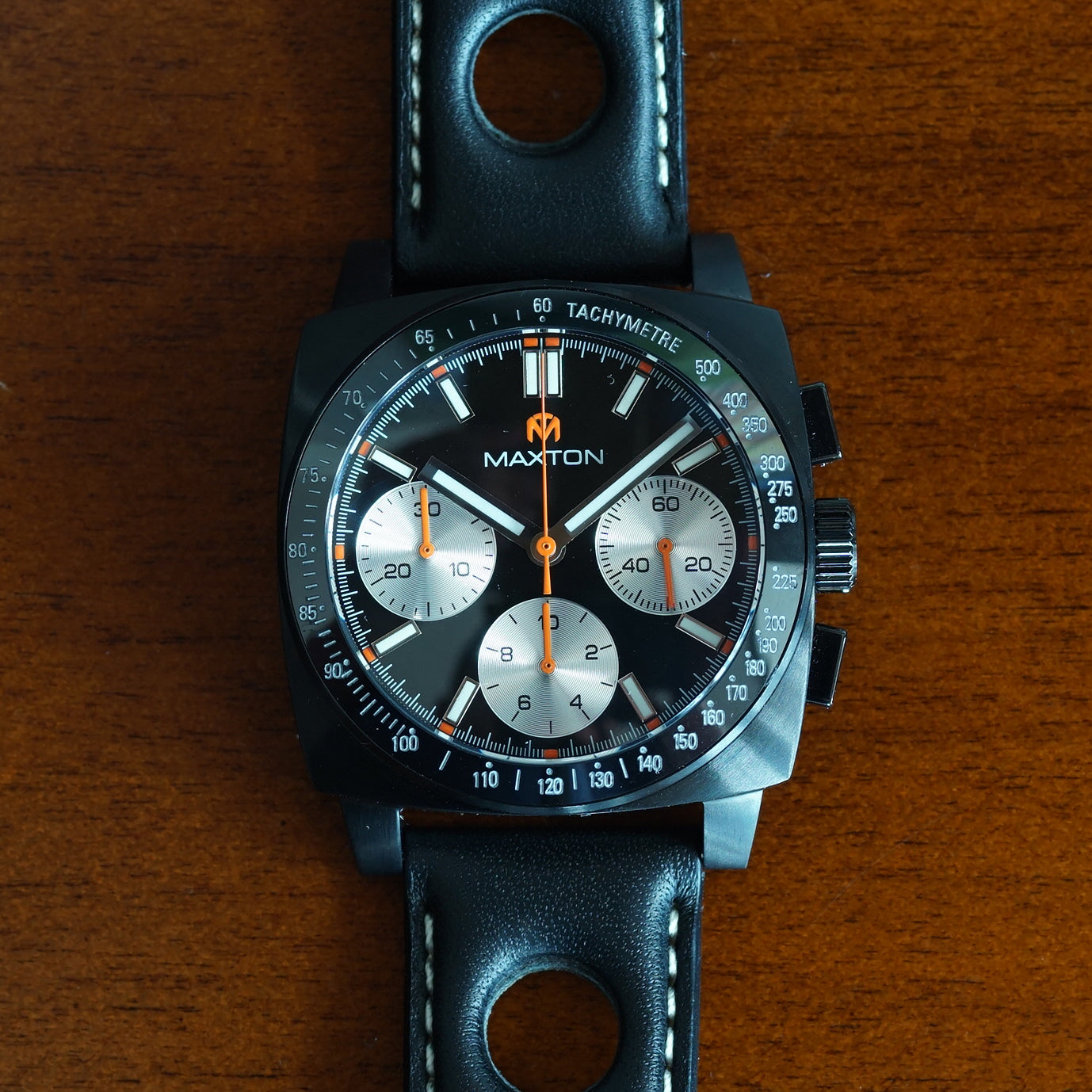 leonard watches brown chrono from pvd coated g image watch strap gucci