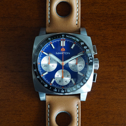 Maxton Men's Watch - Blue Dial - Stainless Steel Case Watch - McDowell Time Auto-Quartz Kinetic Movement YT57