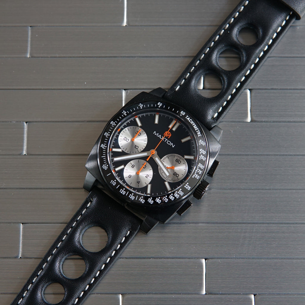 Maxton - Black Dial - PVD Black Case Watch - McDowell Time Auto-Quartz Kinetic Movement YT57
