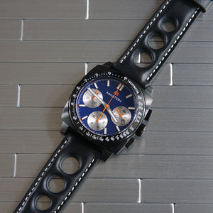 Maxton - Blue Dial - PVD Black Case Watch - McDowell Time Auto-Quartz Kinetic Movement YT57