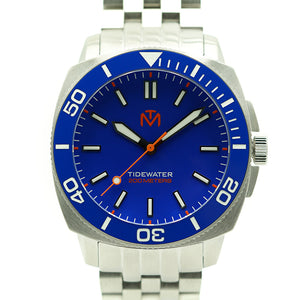 Tidewater Men's Watch - Blue Dial - Brushed Stainless
