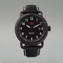 DelRay - Black Dial - PVD Black Case Watch - McDowell Time Auto-Quartz Kinetic Movement YT57