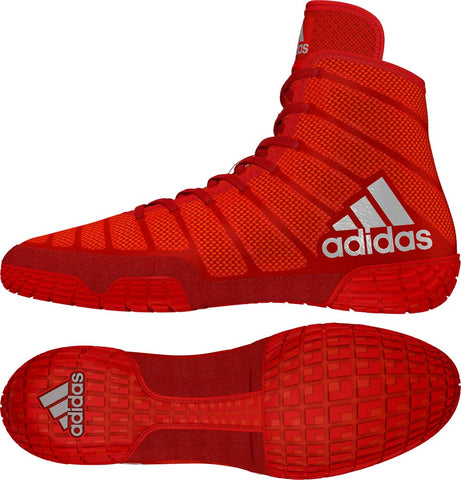 adizero Varner adidas wrestling shoes Red Silver Red