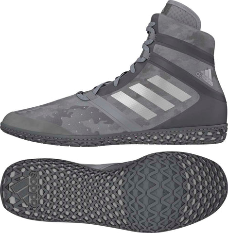 Grey Camo Print Adidas Impact Wrestling Shoes