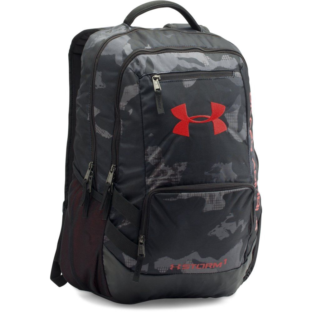 Under Armour Hustle II Backpack Camo Black Red
