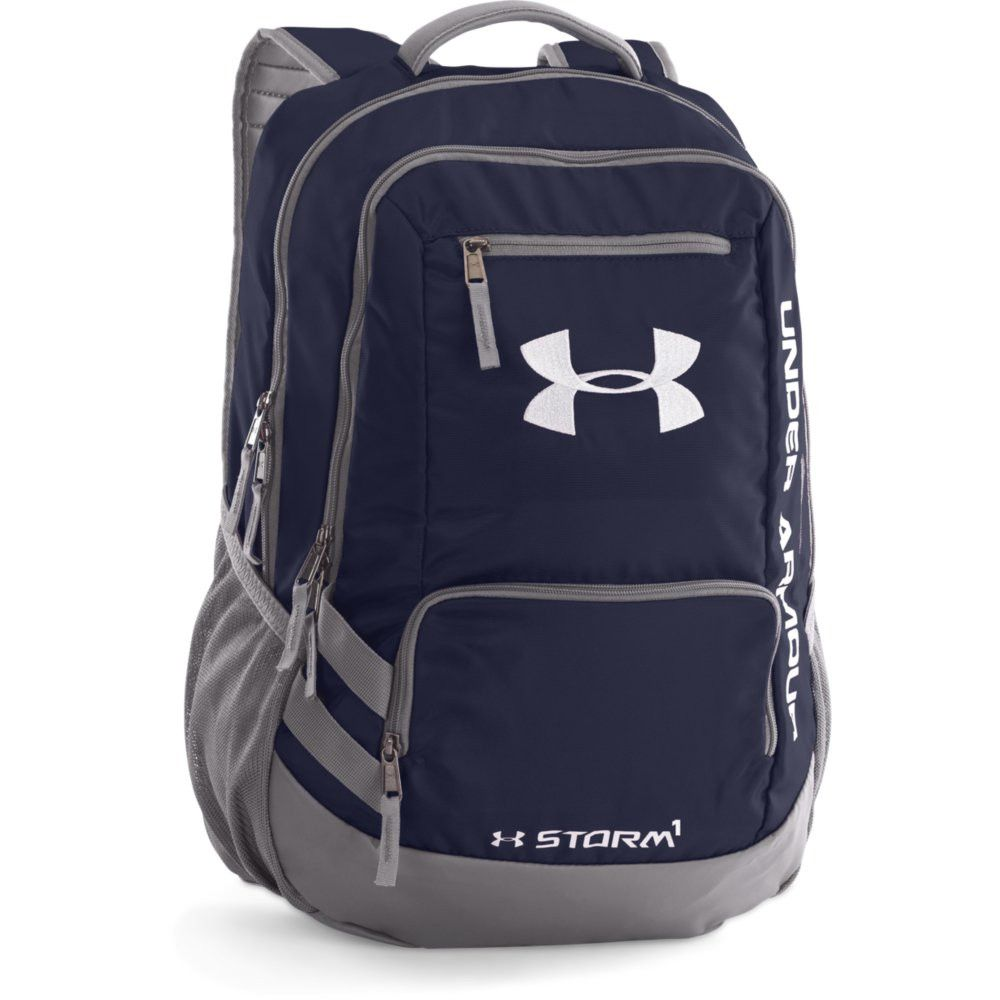 Under Armour Hustle II Backpack Midnight Graphite Silver