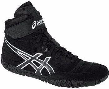 Asics Aggressor 2 Black Onyx Silver Wrestling Shoes