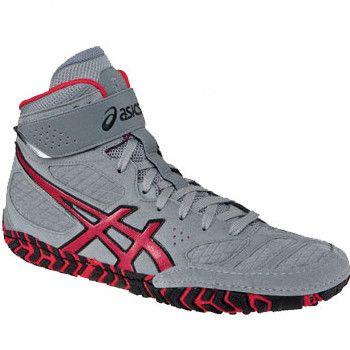 Asics Aggressor 2 Retired Grey Red Wrestling Shoes