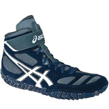 Asics Aggressor 2 Retired Navy Grey Wrestling Shoes