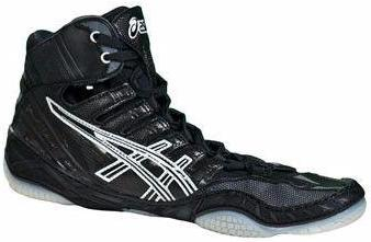 Asics Omniflex Pursuit Black Silver White Wrestling Shoes