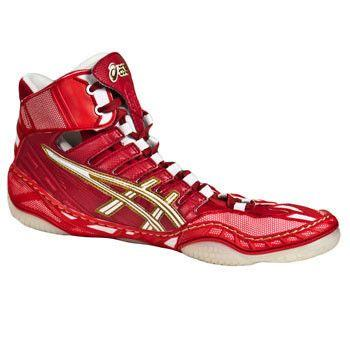 Asics Omniflex Pursuit Red White Wrestling Shoes