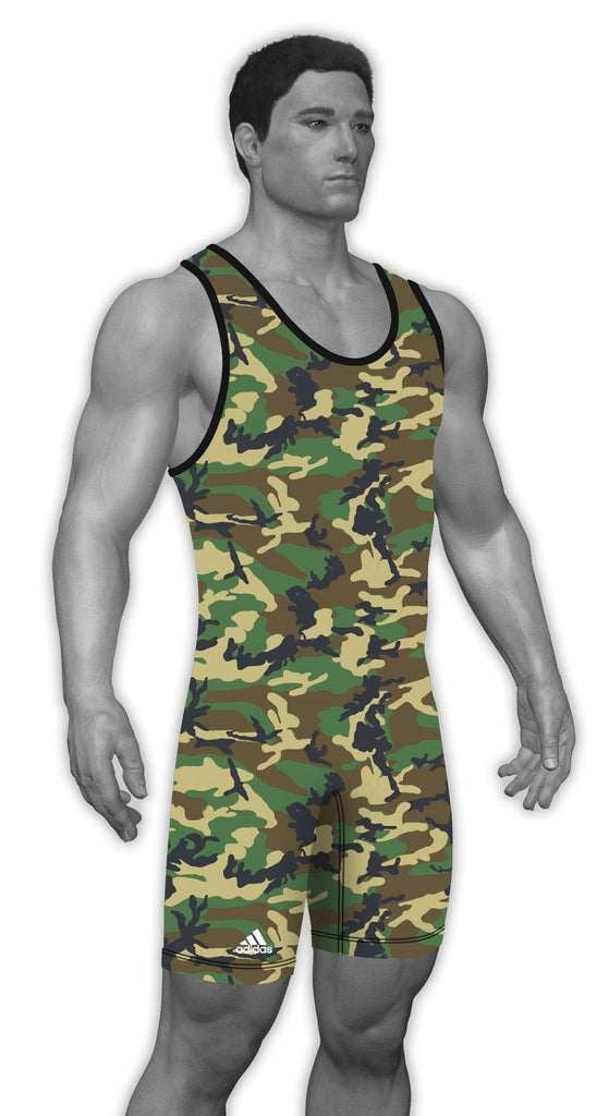Adidas Sublimated Wrestling Singlets aS104c-20-jungle