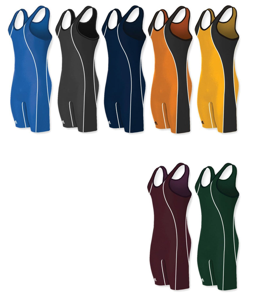 Adidas Wide Side Panel Stock Wrestling Singlets
