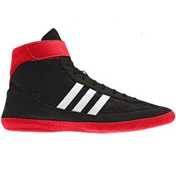 adidas Combat Speed 4 Black Red Wrestling Shoes
