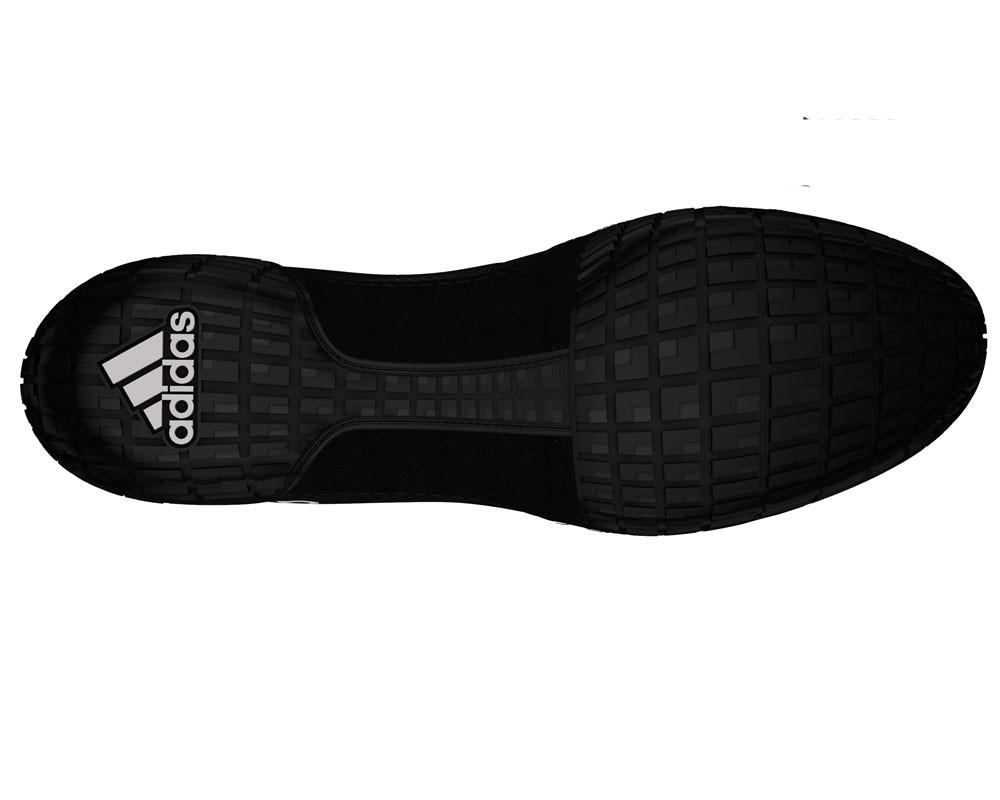 adidas adizero varner black white wrestling shoes bottom