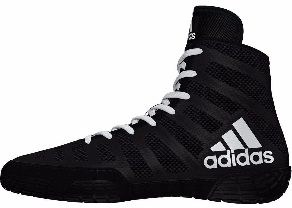 adidas adizero varner black white wrestling shoes