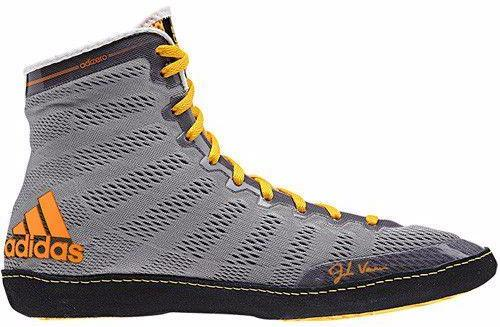 adidas adizero Varner Grey Black Solar Gold Wrestling Shoes