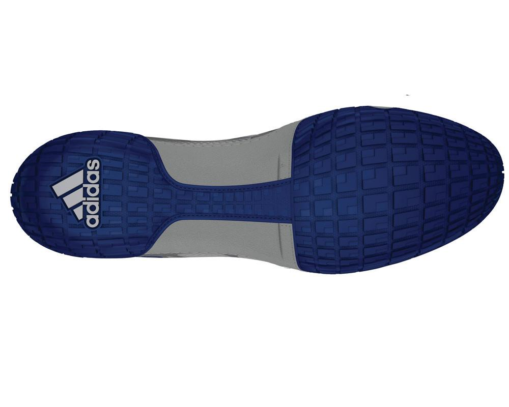 adidas adizero varner grey royal white wrestling shoes bottom