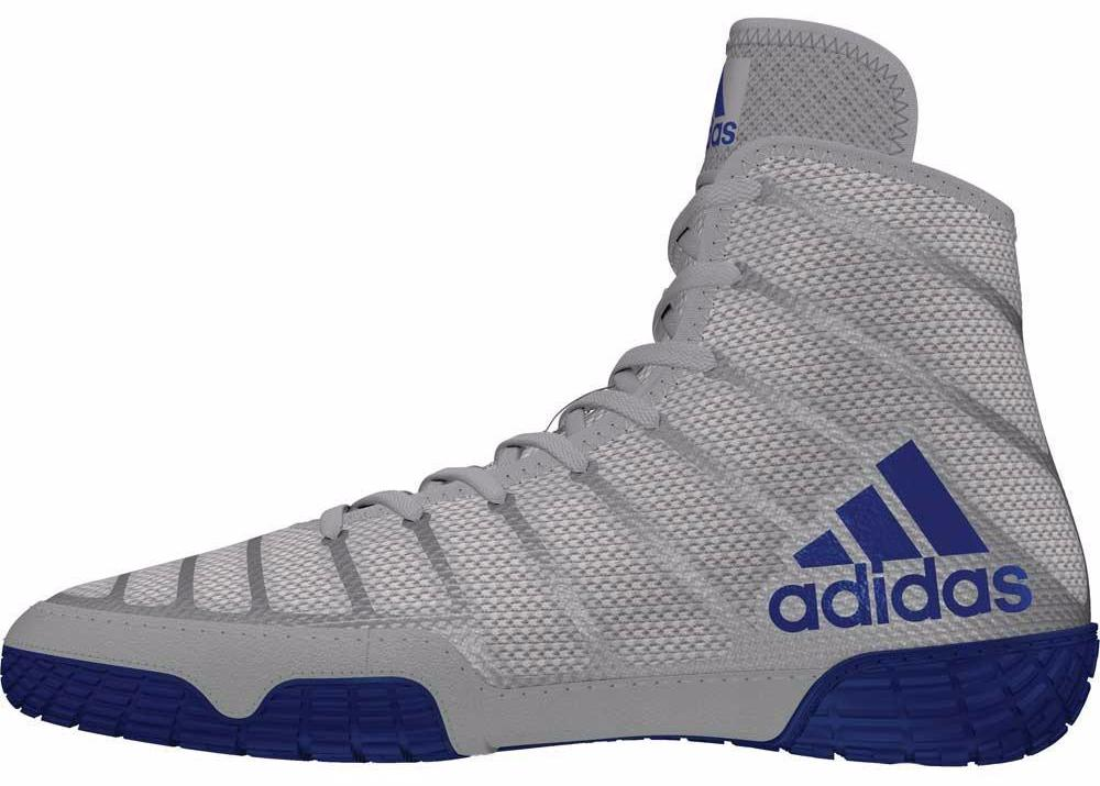 adidas adizero varner grey royal white wrestling shoes