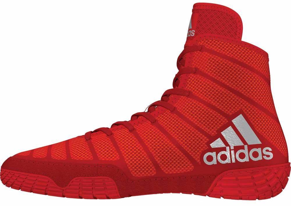 adidas adizero varner red silver white wrestling shoes