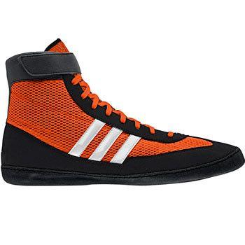 adidas Combat Speed 4 Orange White Black Wrestling Shoes