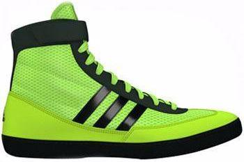 adidas Combat Speed 4 Solar Yellow Black Wrestling Shoes