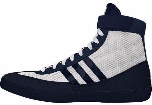 adidas Combat Speed 4 White Navy Wrestling Shoes