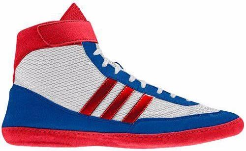 adidas Combat Speed 4 Retired Red White Blue Wrestling Shoes