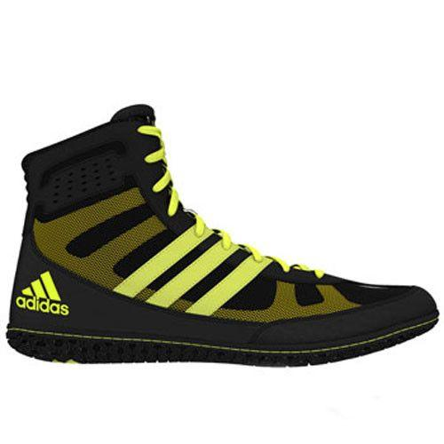 adidas David Taylor Mat Wizard Black Solar Yellow Wrestling Shoes