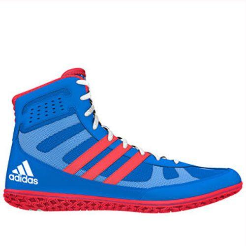 adidas David Taylor Mat Wizard Royal Red White Wrestling Shoes