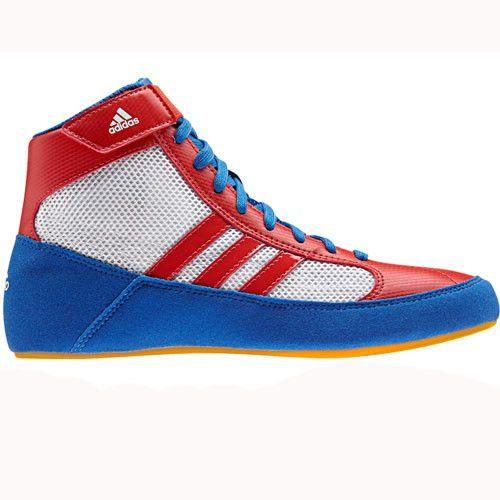 adidas HVC Youth Blue Red White Wrestling Shoes