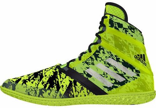 adidas Impact Solar Yellow Silver Black Wrestling Shoes