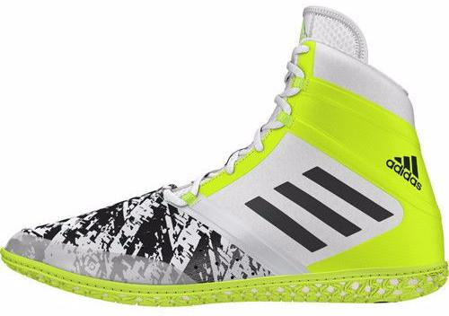 adidas Impact White Black Solar YellowWrestling Shoes