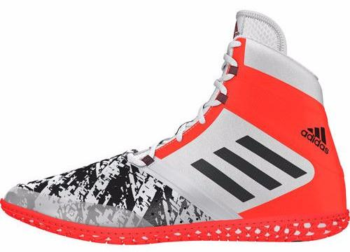adidas Impact White Black Solar Red Wrestling Shoes