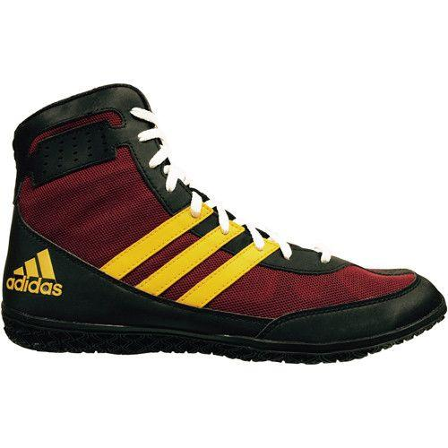 adidas Mat Wizard Burgunby Black Gold Wrestling Shoes