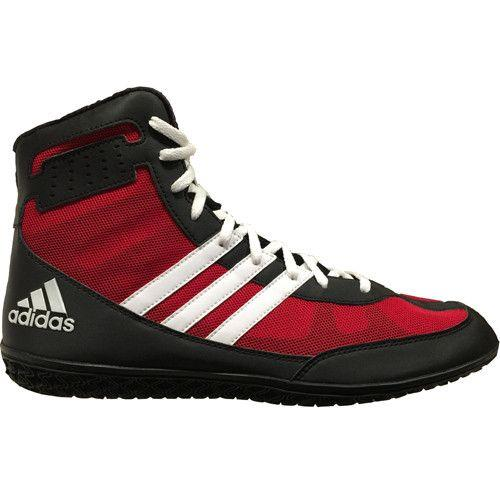 adidas Mat Wizard Red White Black Wrestling Shoes