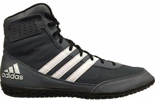 adidas David Taylor Mat Wizard Grey Black White Wrestling Shoes