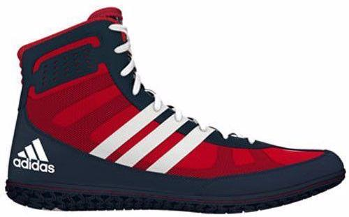 adidas Mat Wizard Red White Navy Wrestling Shoes