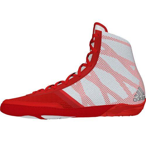 adidas Pretereo III Red Silver White Wrestling Shoes