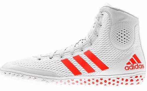 adidas Tech Fall 16 Rio White Solar Red Wrestling Shoes
