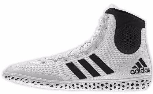 adidas Tech Fall White Black Wrestling Shoes