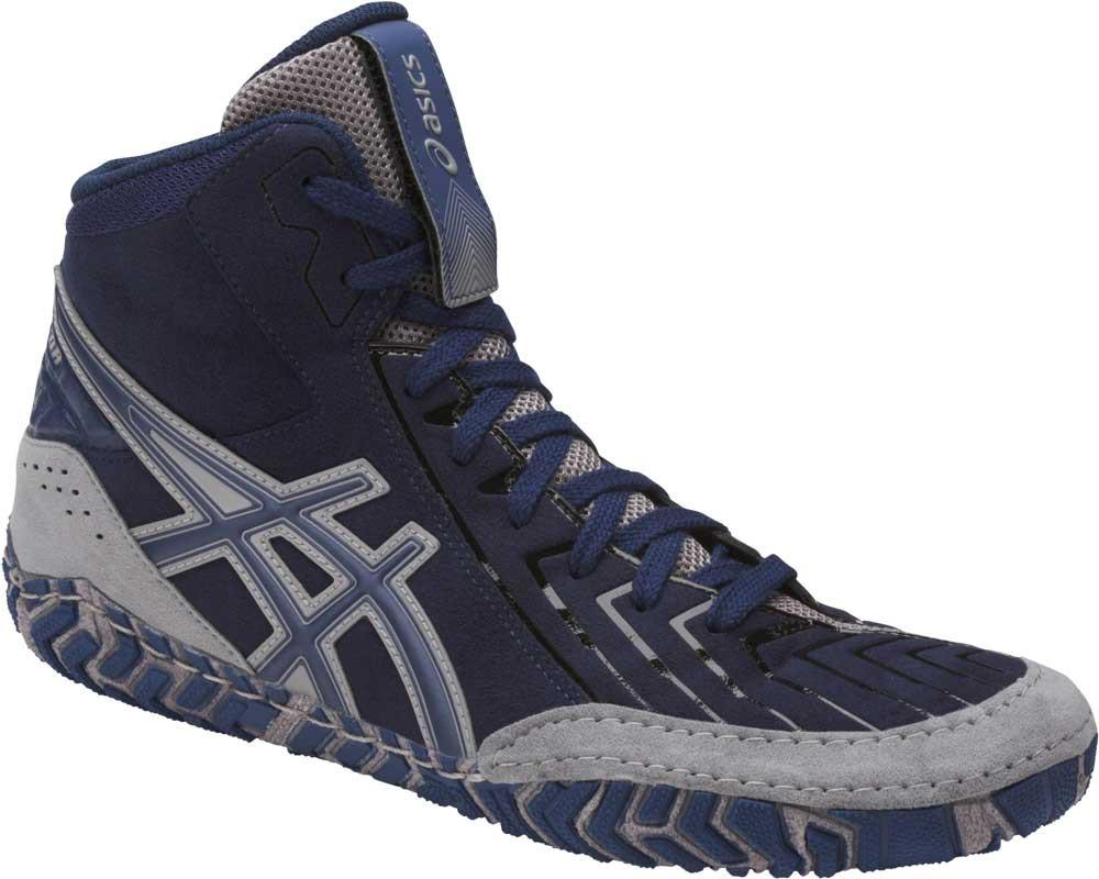 asics aggressor 3 wrestling shoes indigo blue aluminum