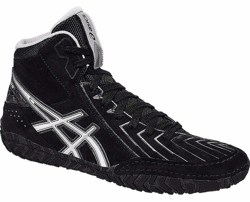 asics black and white