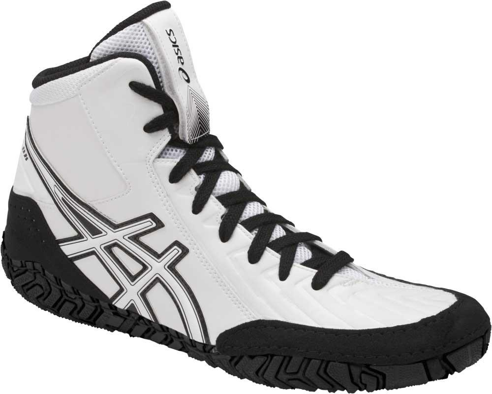 asics aggressor 3 wrestling shoes white black