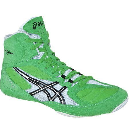 Asics Cael V5.0 Electric Green White Wrestling Shoes